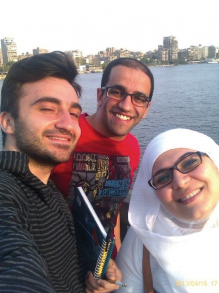 Zohrab and her new friends in Cairo
