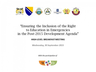 Education in Emergencies in the Post-2015 Development Agenda