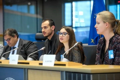 Young people at the European Parliament